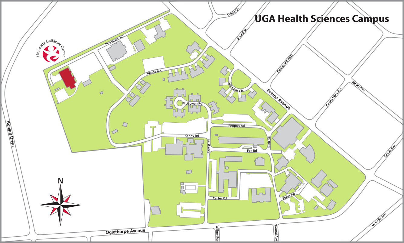 Uga Health Sciences Campus Map.Location University Child Care Center